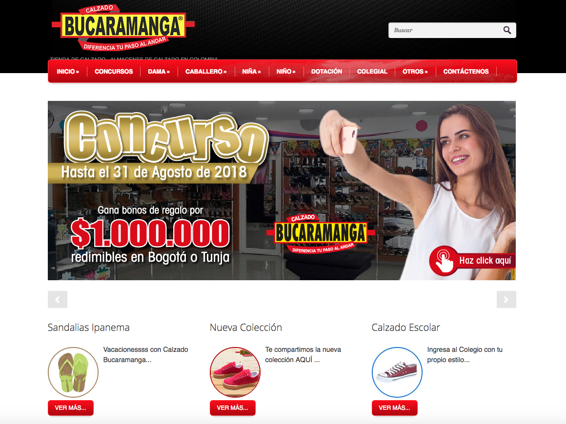web calzado bucaramanga