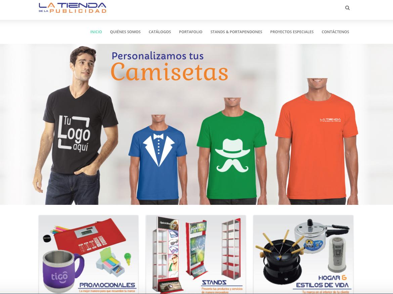 web tienda de la publicidad