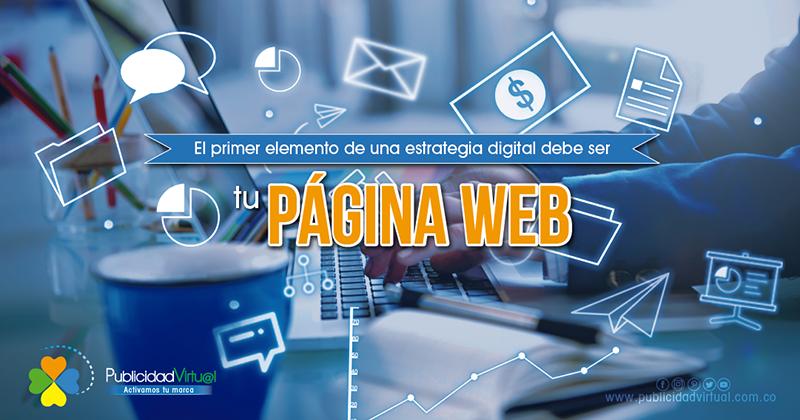 SITIO WEB, el primer elemento de tu estrategia digital