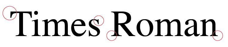fuente con serifa tipografia